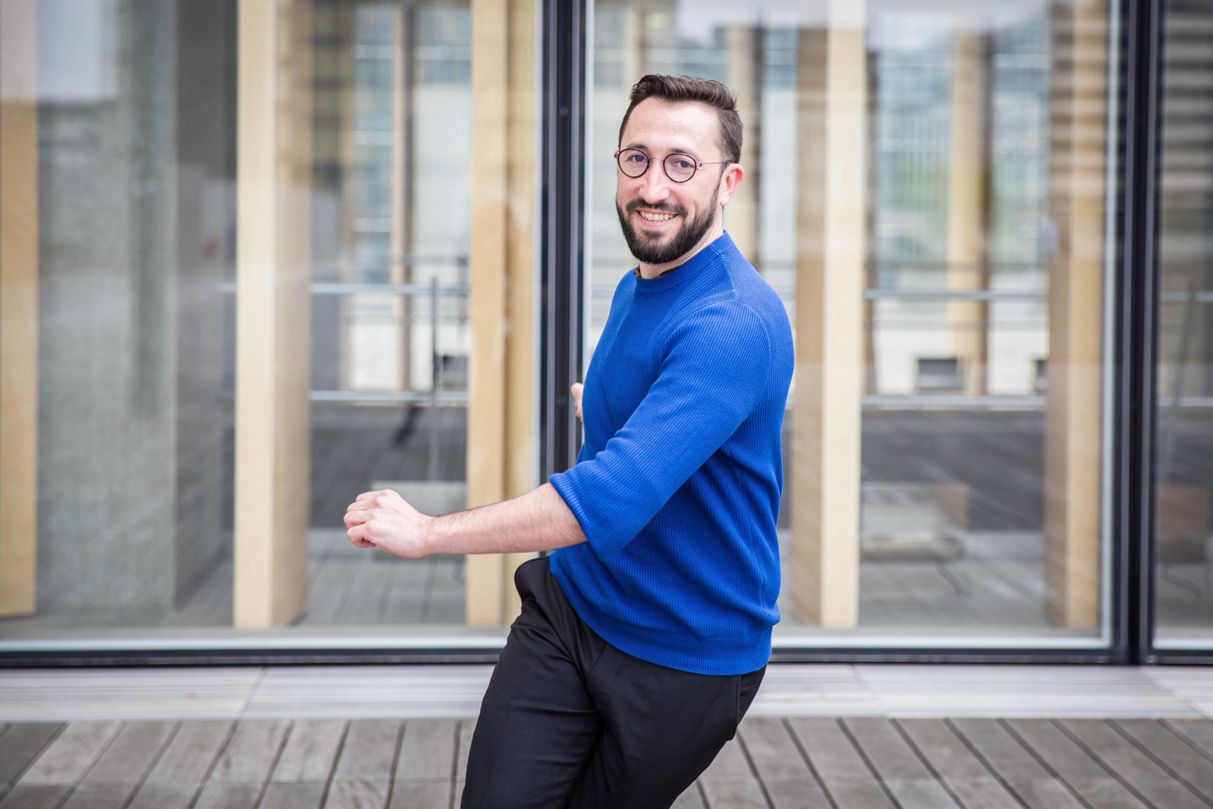 Alex danse à la BNF