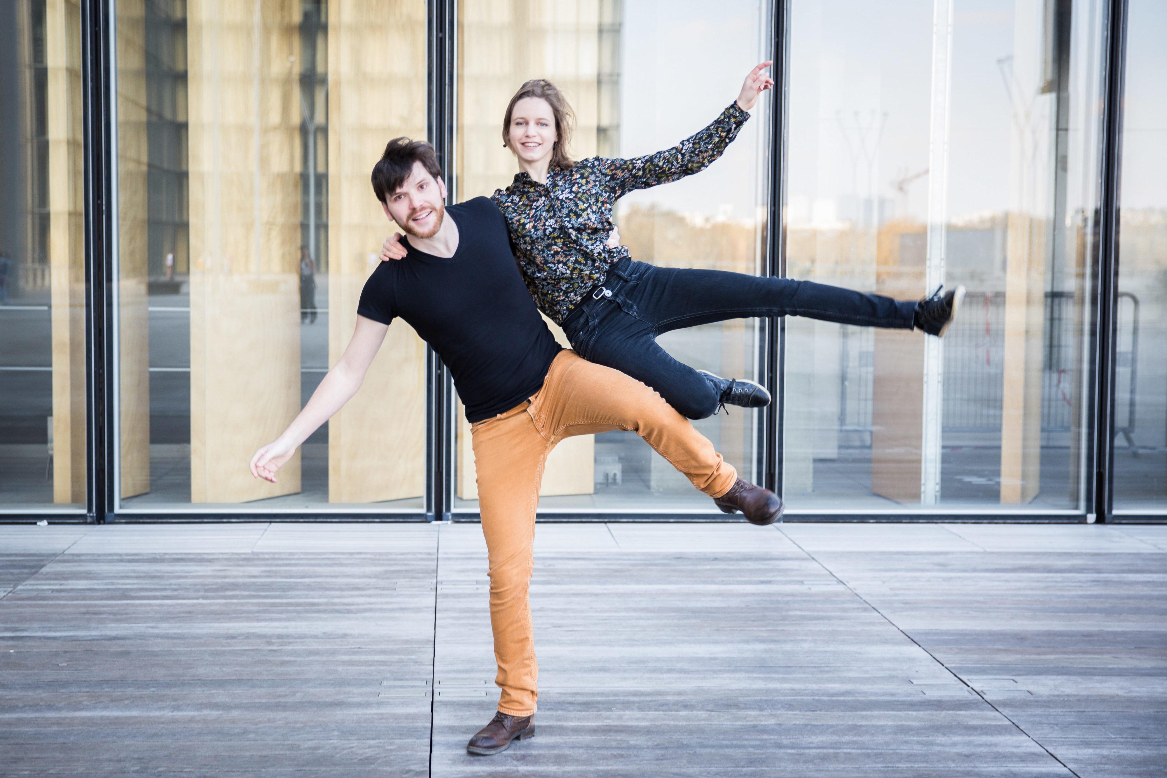 Quentin et Agathe dansent à la BNF