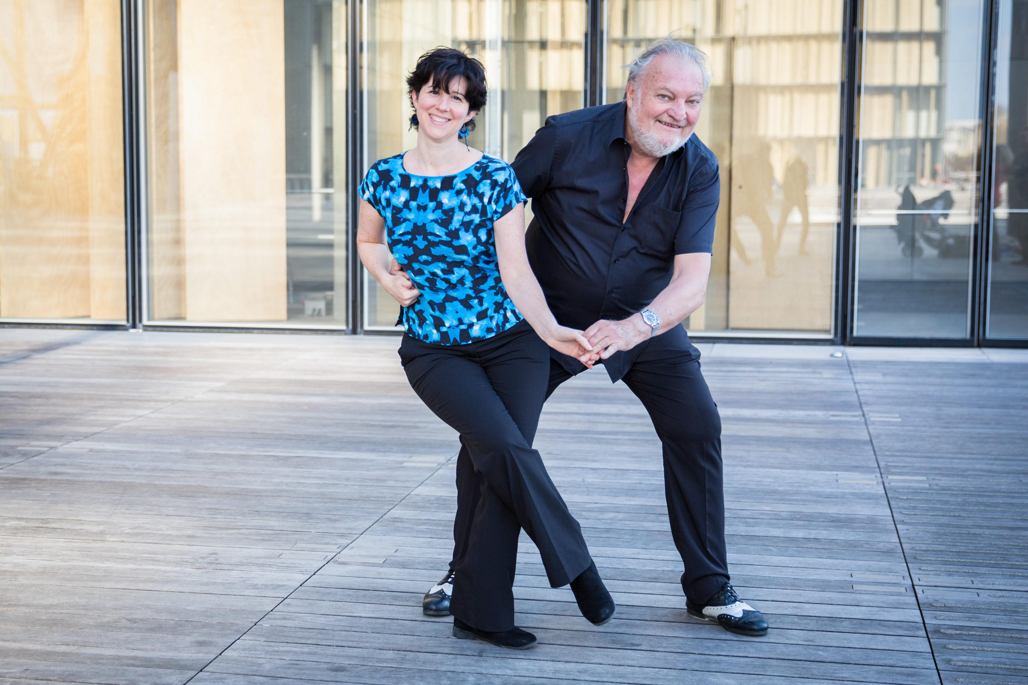 Lena et Lionel dansent à la BNF