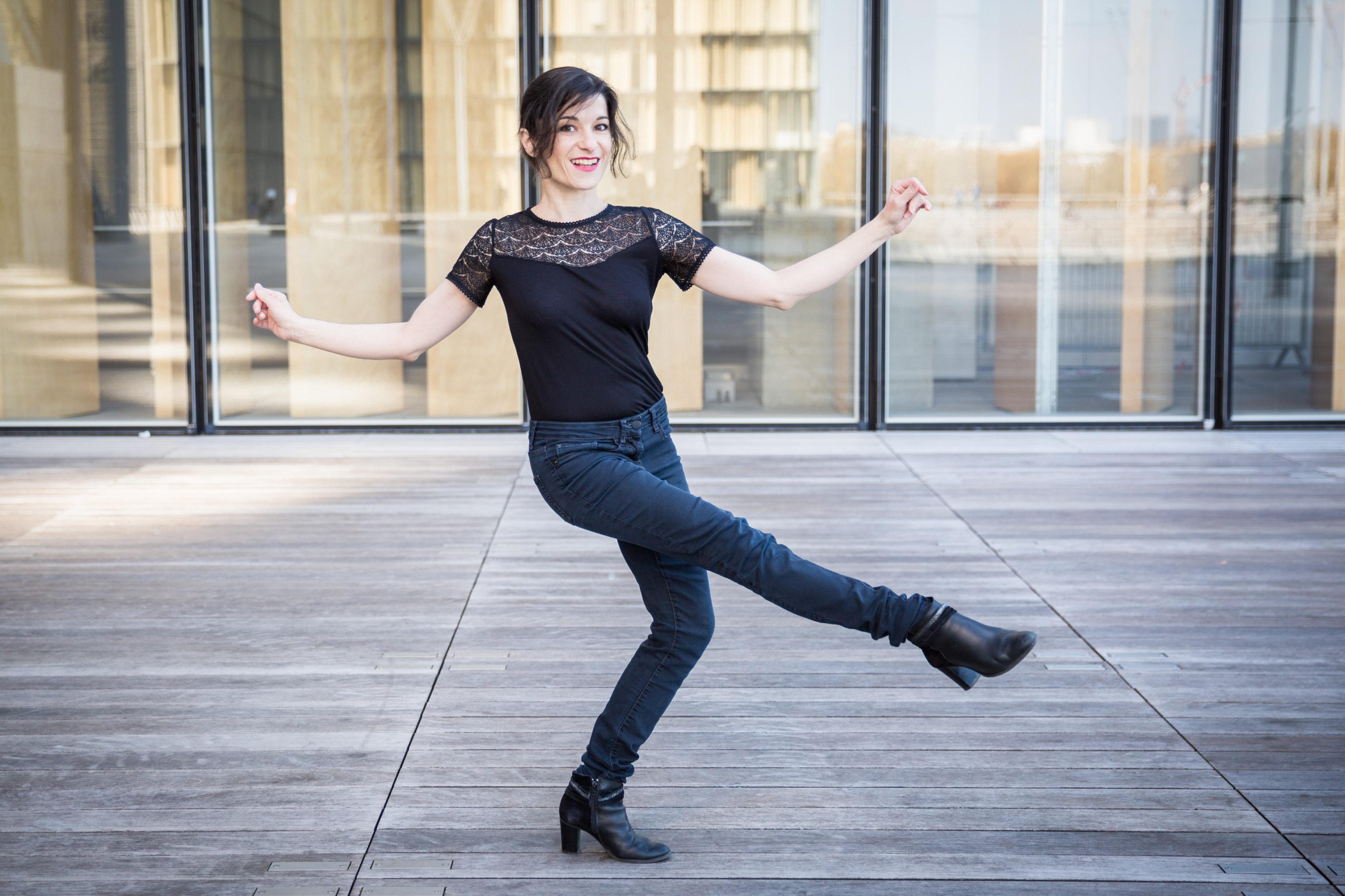 Christelle danse à la BNF