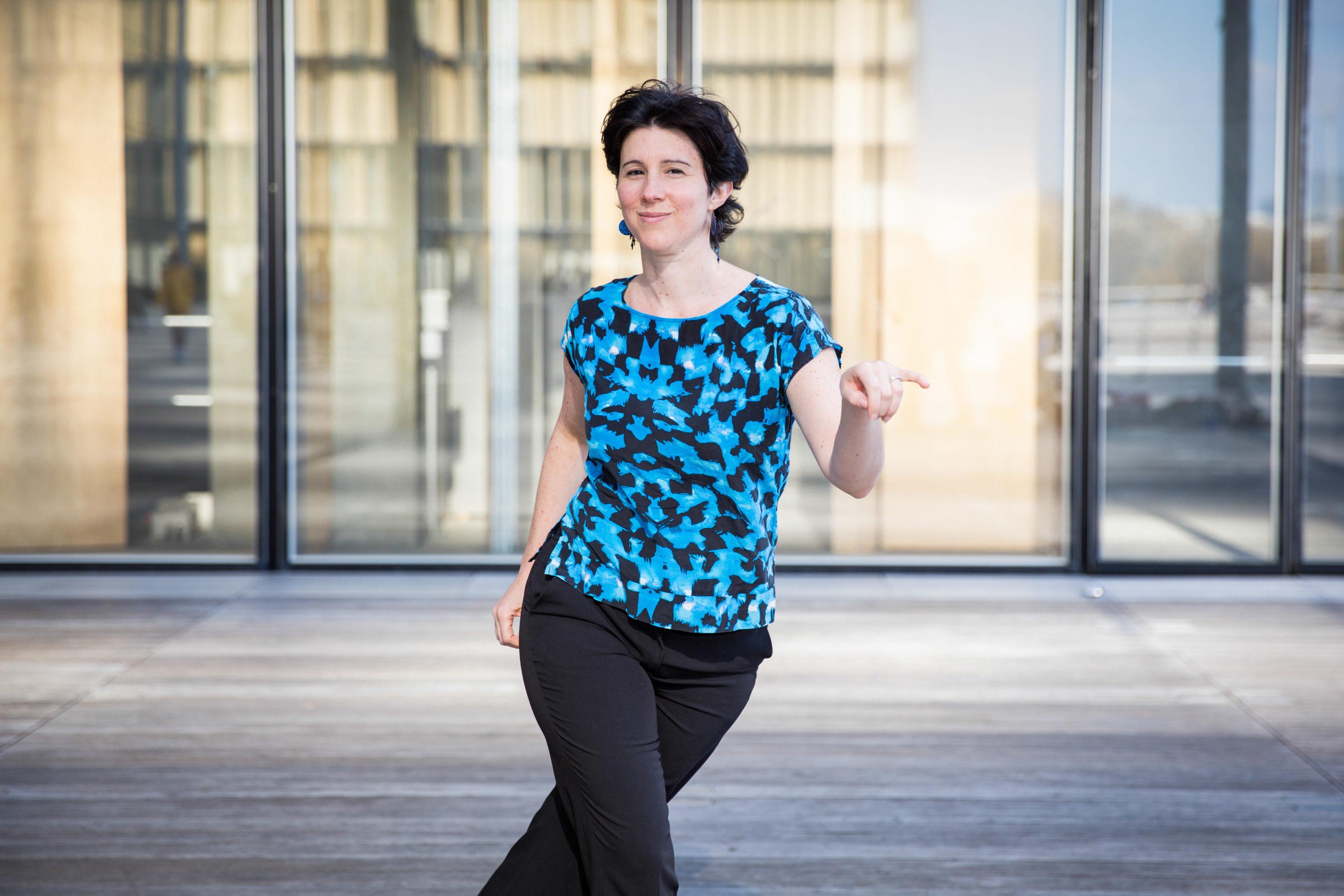 Lena danse à la BNF