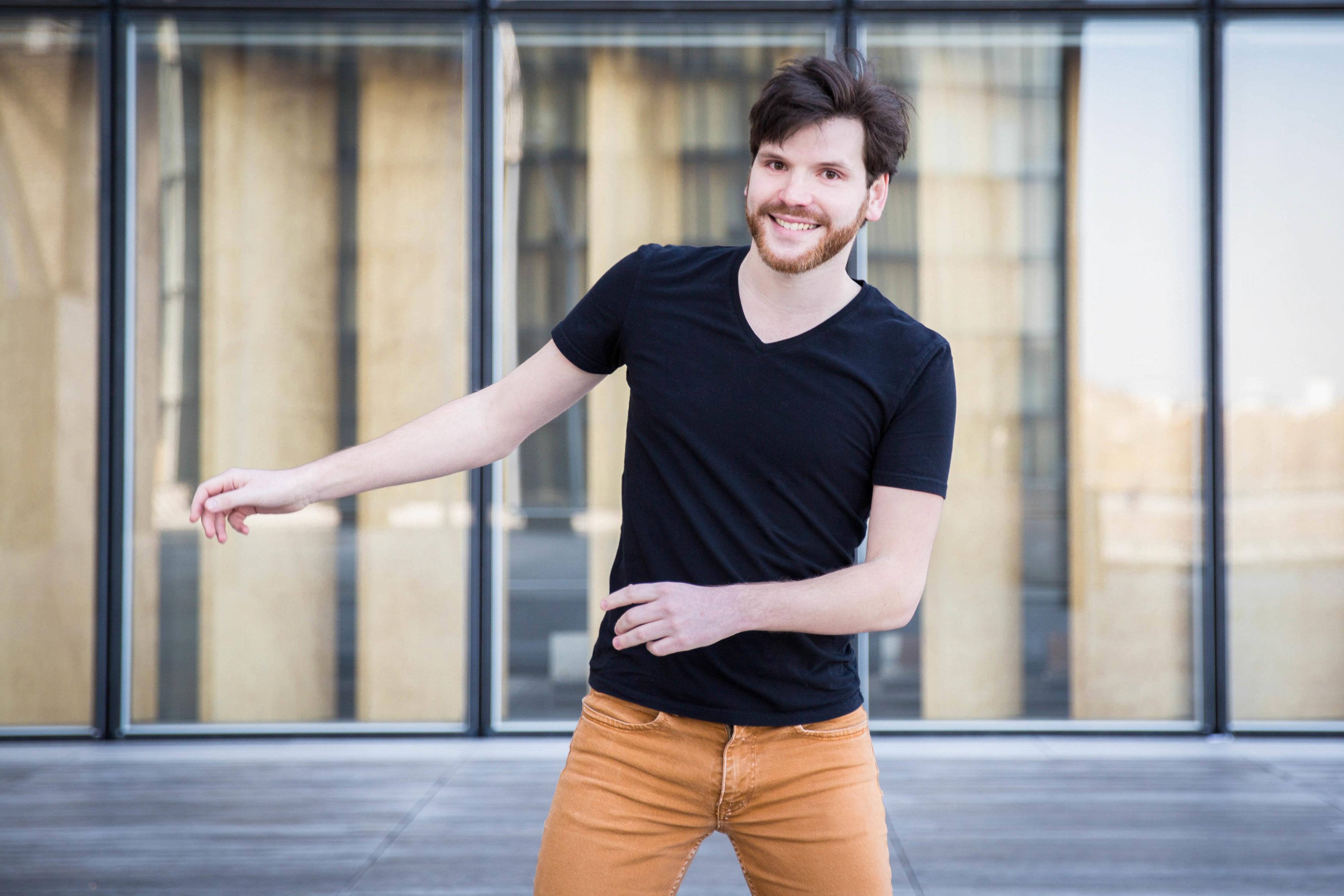 Quentin danse à la BNF