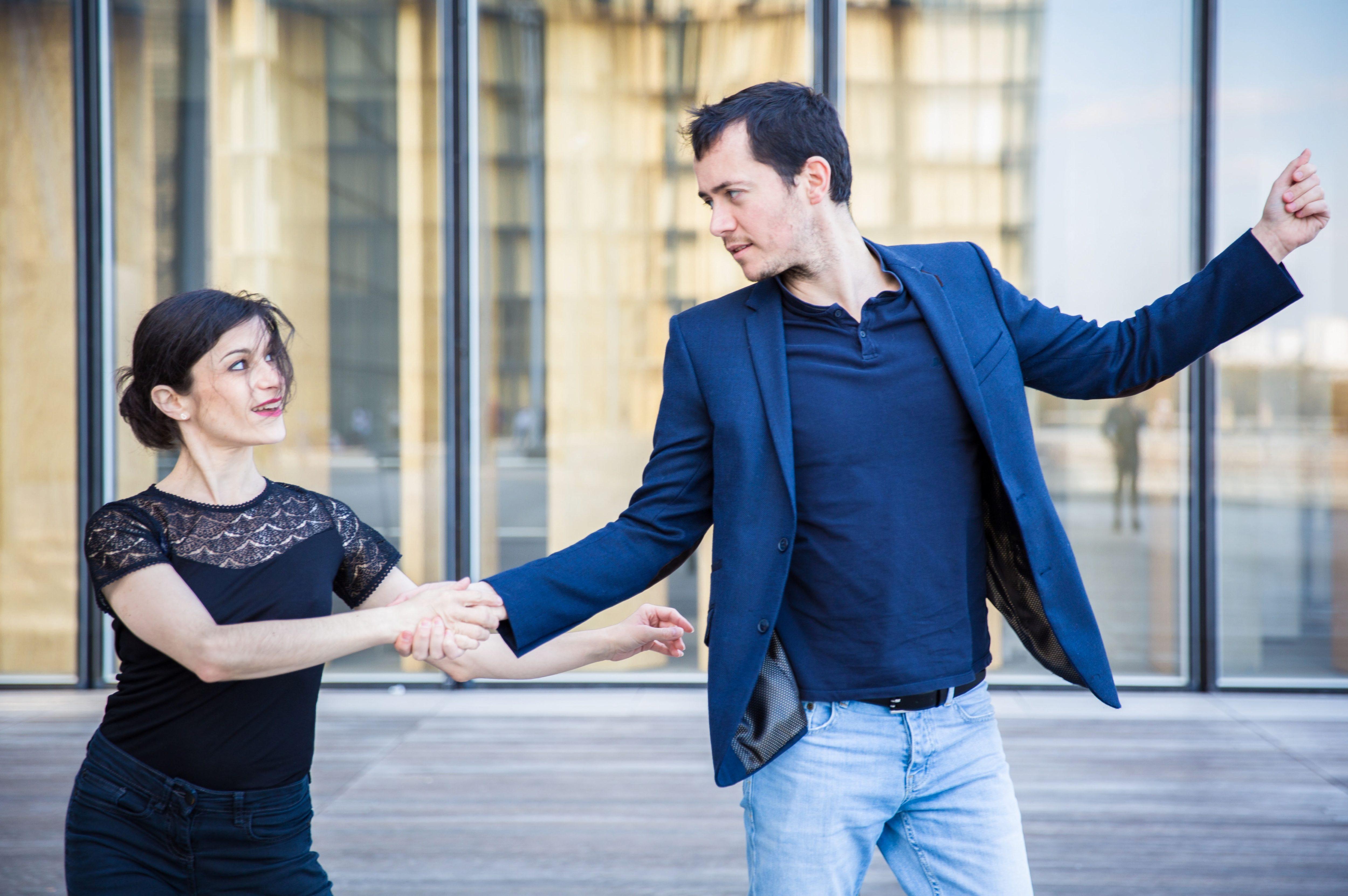 Christelle et Maxime dansent à la BNF